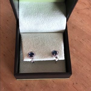 Ross-Simons Jewelry - NWOT Ross Simons Sapphire Earrings in Diamond Halo